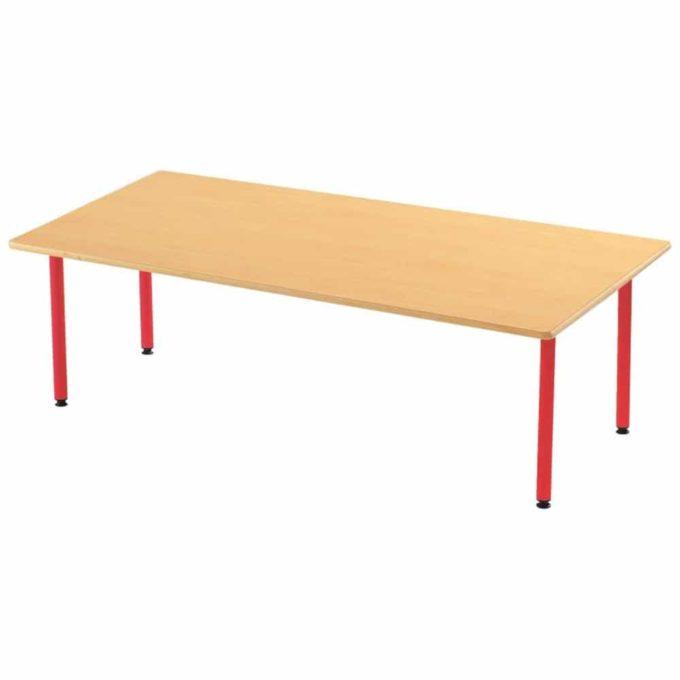 Tisch rechteckig 160x80 cm - mit beschichteter natürlicher Tischplatte mit Beinen aus Metall 1