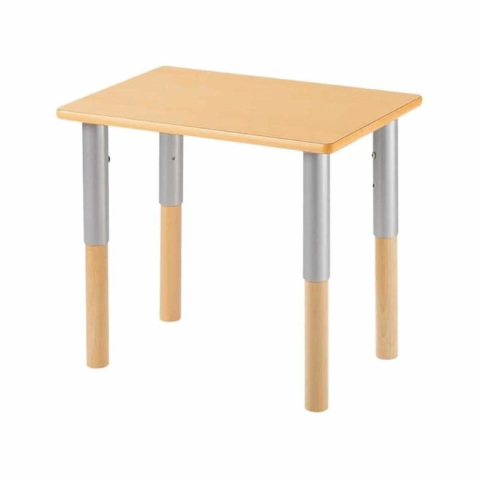 Verstellbarer Tisch rechteckig 50x60 cm - mit beschichteter Platte 1