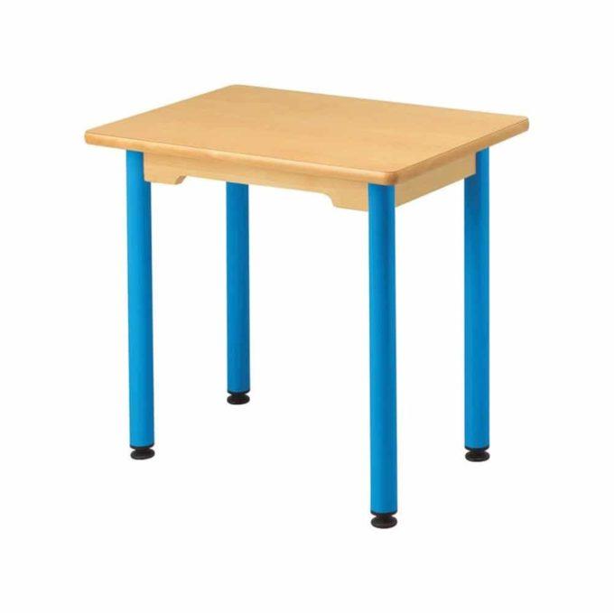 Tisch rechteckig 60x50 cm - mit beschichteter Tischplatte mit Beinen aus Metall 1