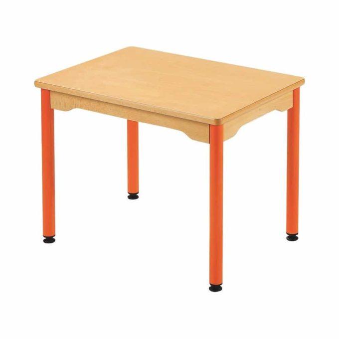 Tisch rechteckig 70x50 cm - mit beschichteter Tischplatte mit Beinen aus Metall 1