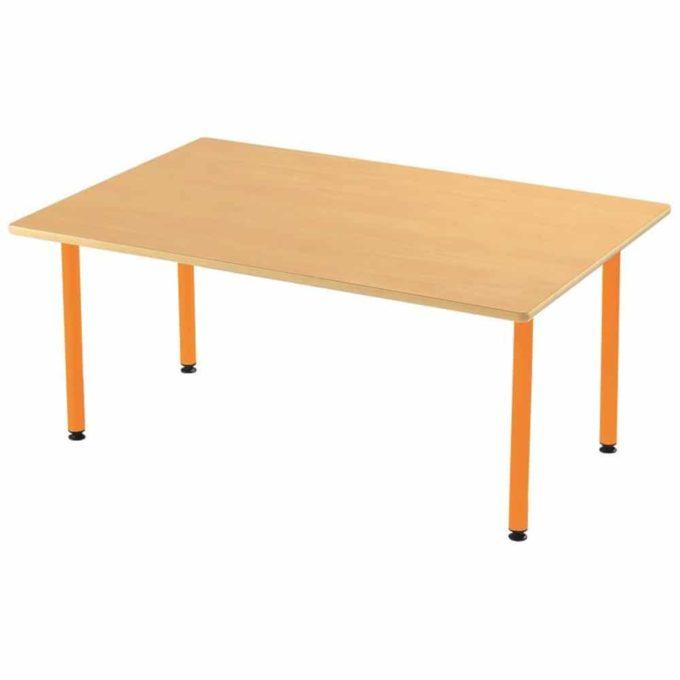 Tisch rechteckig 160x80 cm - mit geräuscharmer Platte mit Beinen aus Metall (farbig) 1