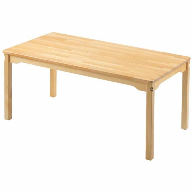 Tisch rechteckig 160x80 cm - mit geräuscharmer Platte mit Beinen aus Holz 1