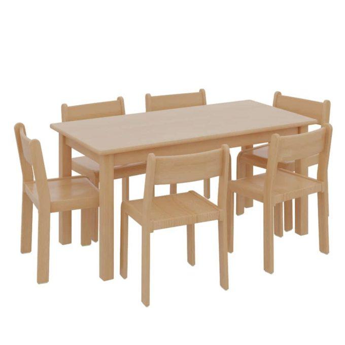 Rechtecktisch mit 6 TIM-Stühlen 1