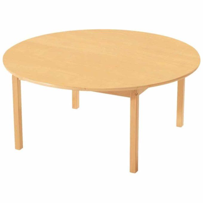 Tisch rund - mit geräuscharmer Platte mit Beinen aus Holz 1