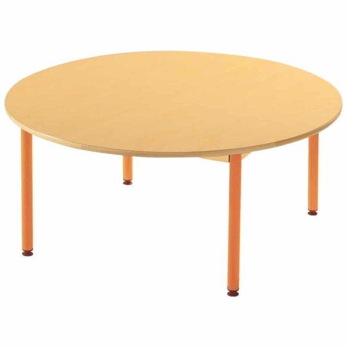 Tisch rund - mit beschichteter Tischplatte mit Beinen aus Metall 1