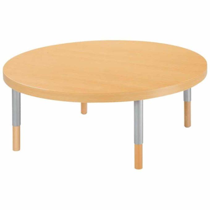 Verstellbarer Tisch rund - mit dicker Platte 1