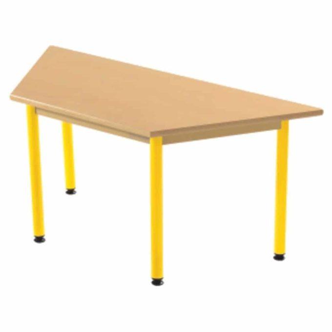 Tisch Trapezförmig - mit beschichteter Tischplatte mit Beinen aus Metall 1