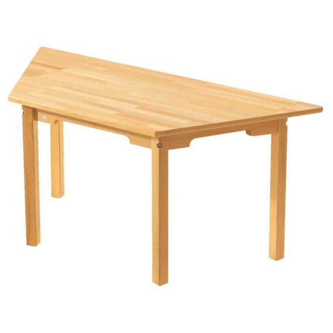 Tisch trapezförmig - aus 100% massiver Buche - Beine aus Holz 1