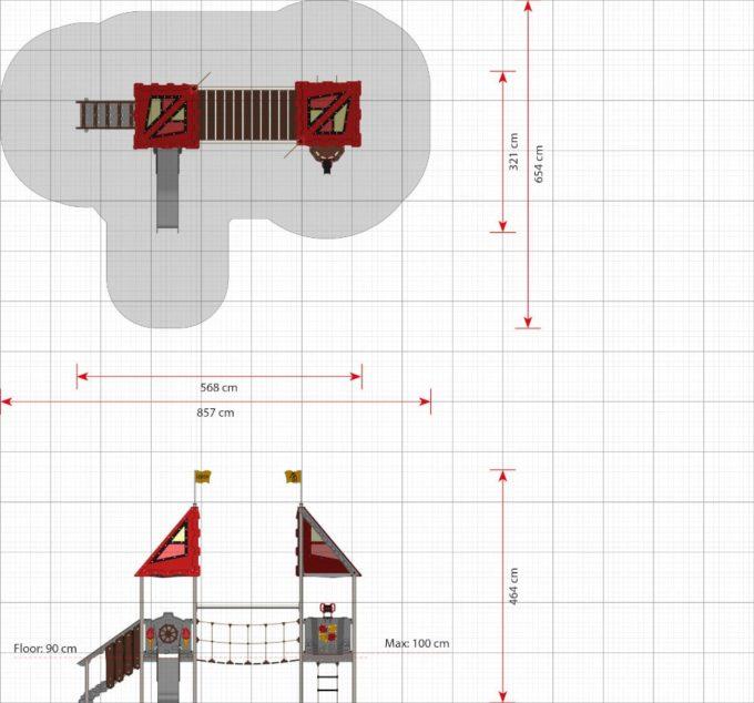 Kleine Spielanlage Lionel - LEDON Castle 2