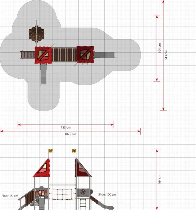 Kleine Spielanlage Uther - LEDON Castle 2