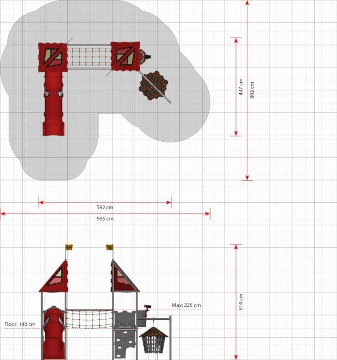 Kleine Spielanlage Troy - LEDON Castle 2