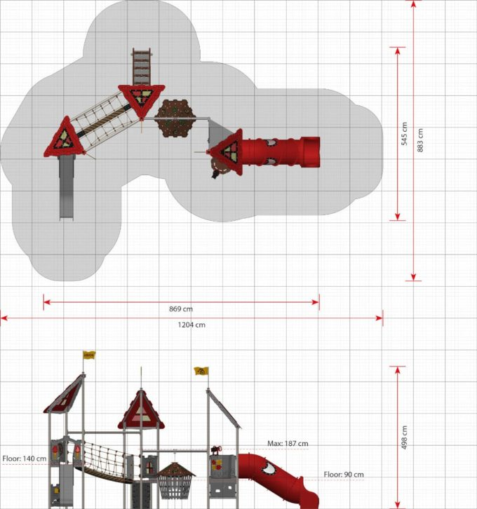 Große Spielanlage Elaine - LEDON Castle 2