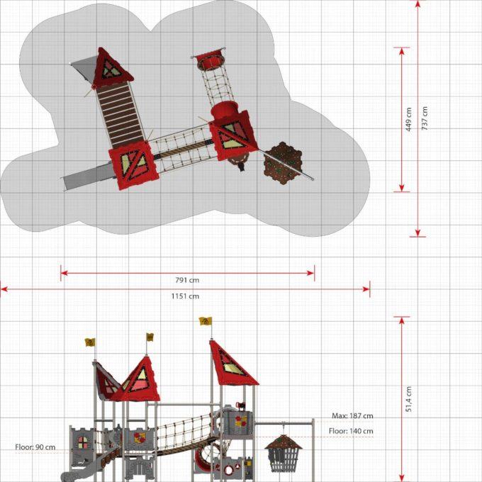 Große Spielanlage Pelleas - LEDON Castle 5