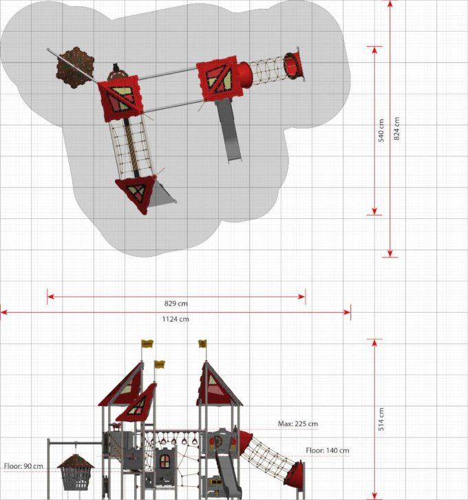 Große Spielanlage Merlin - LEDON Castle 2