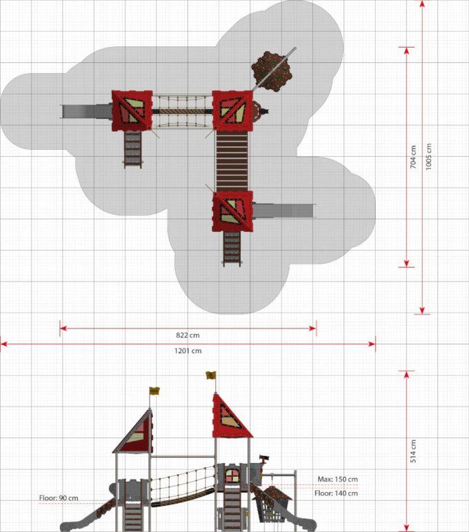 Große Spielanlage Mordred - LEDON Castle 2