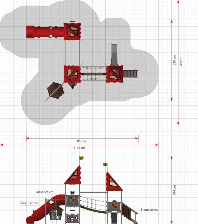 Große Spielanlage Nimueh - LEDON Castle 2
