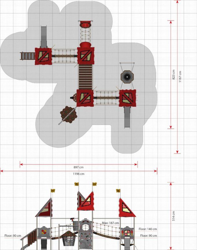 Riesige Spielanlage Tristan - LEDON Castle 2
