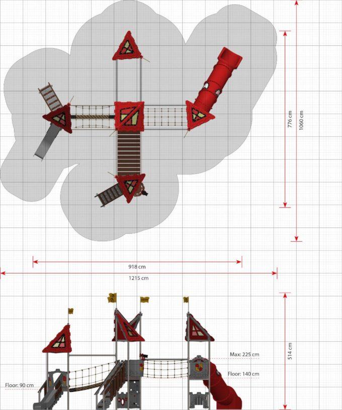 Riesige Spielanlage Tinka - LEDON Castle 2