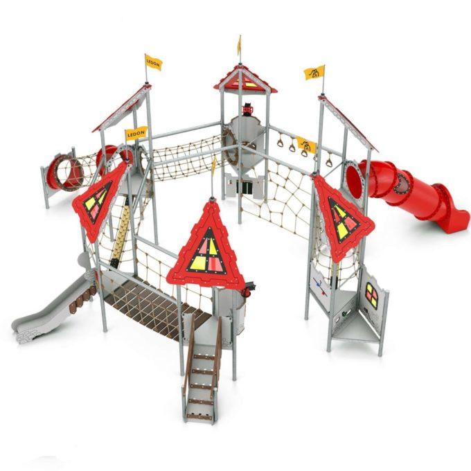 Riesige Spielanlage Arthur - LEDON Castle 1