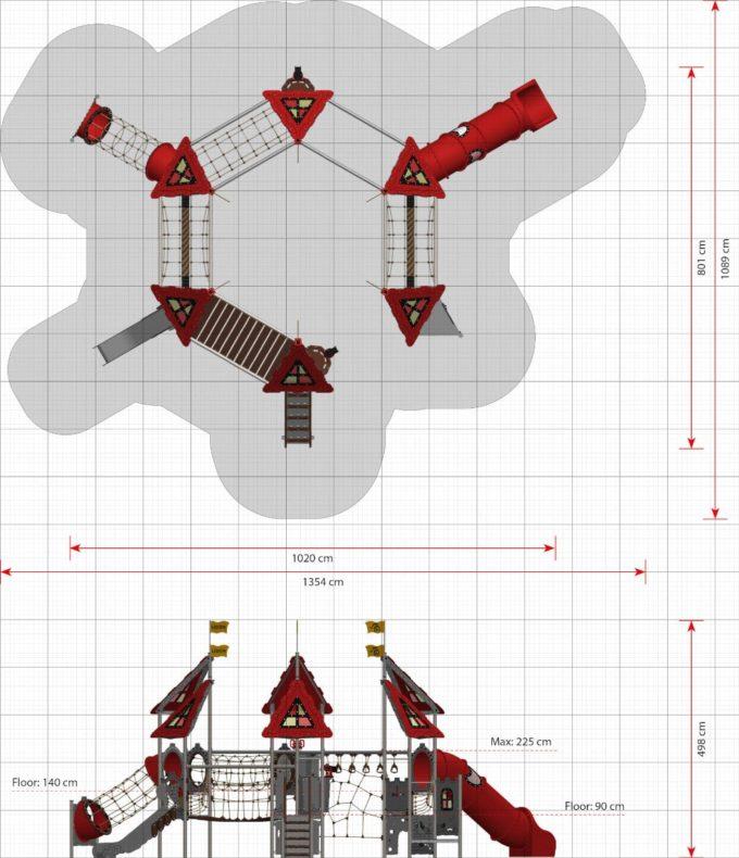 Riesige Spielanlage Arthur - LEDON Castle 2