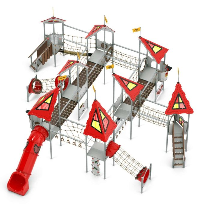 Riesige Spielanlage Viviane - LEDON Castle 1