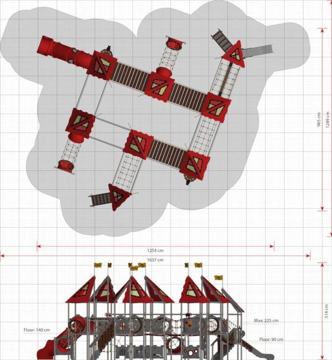 Riesige Spielanlage Viviane - LEDON Castle 2