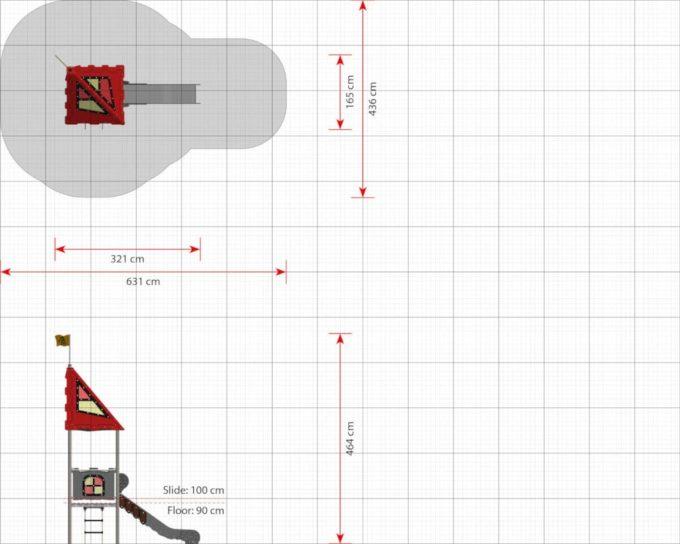 Spielturm Avalon - LEDON Castle 2