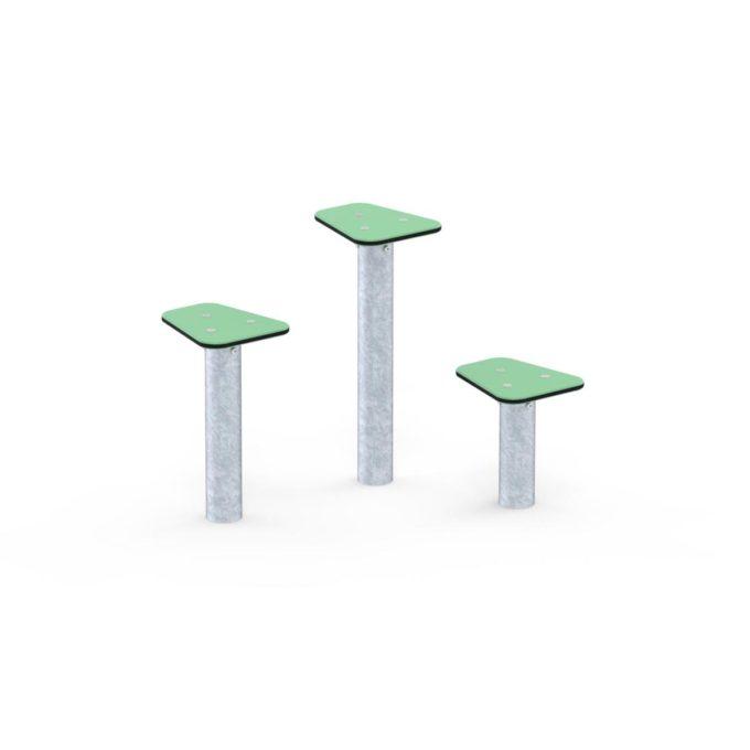 Trittsteine in verschiedenen Höhen - LEDON Basic 1