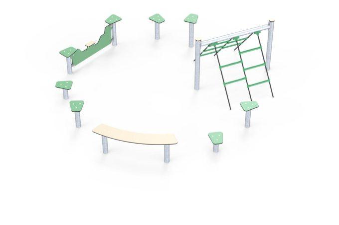 Hindernisparcours in verschiedenen Formen - LEDON Basic 9