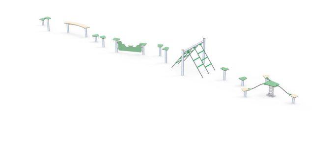 Hindernisparcours in verschiedenen Formen - LEDON Basic 6