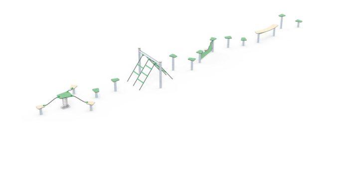 Hindernisparcours in verschiedenen Formen - LEDON Basic 7
