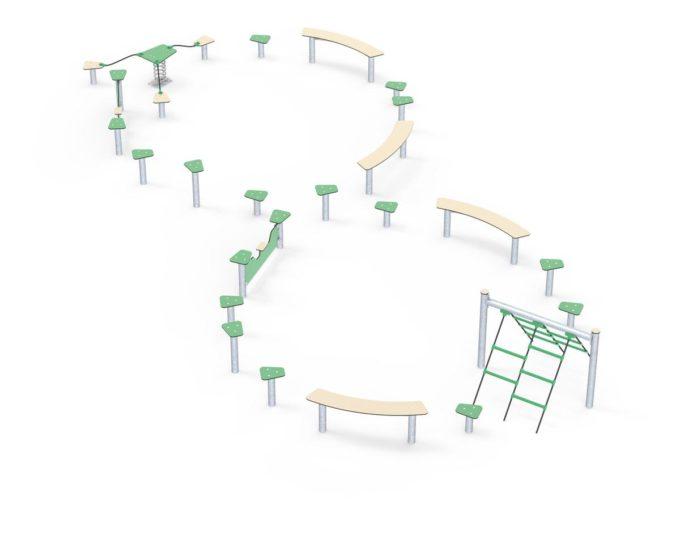 Hindernisparcours in verschiedenen Formen - LEDON Basic 12