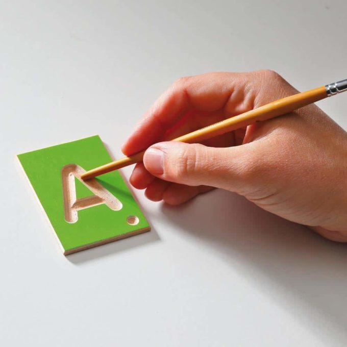 Erzi Lernspiel Großbuchstaben 6