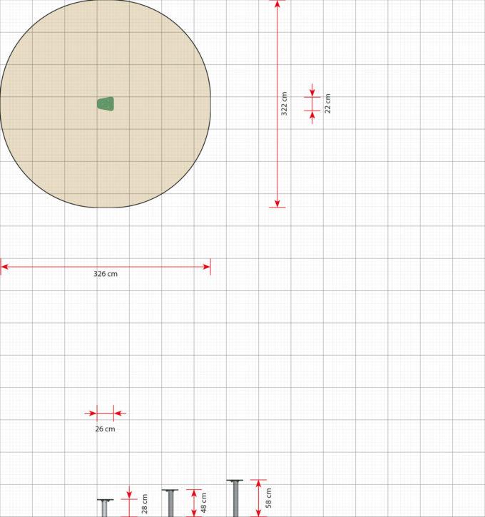 Trittsteine in verschiedenen Höhen - LEDON Basic 2