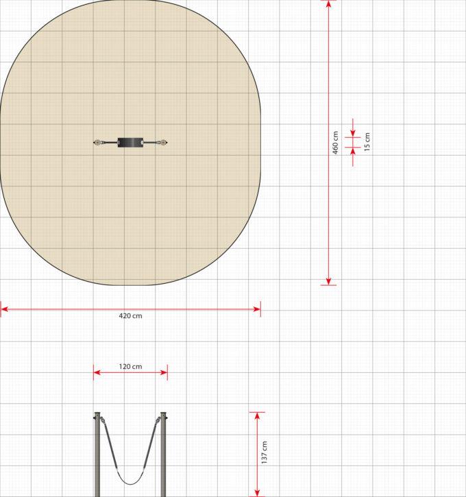Mini Schaukel mit Gummisitz - LEDON Basic - LB058 9