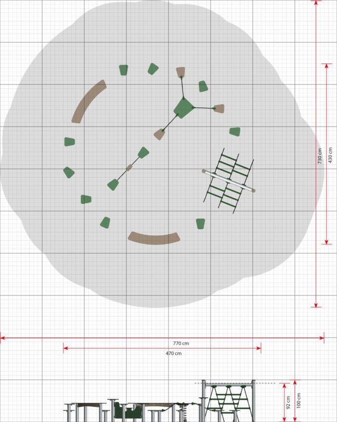 Hindernisparcours in verschiedenen Formen - LEDON Basic 8