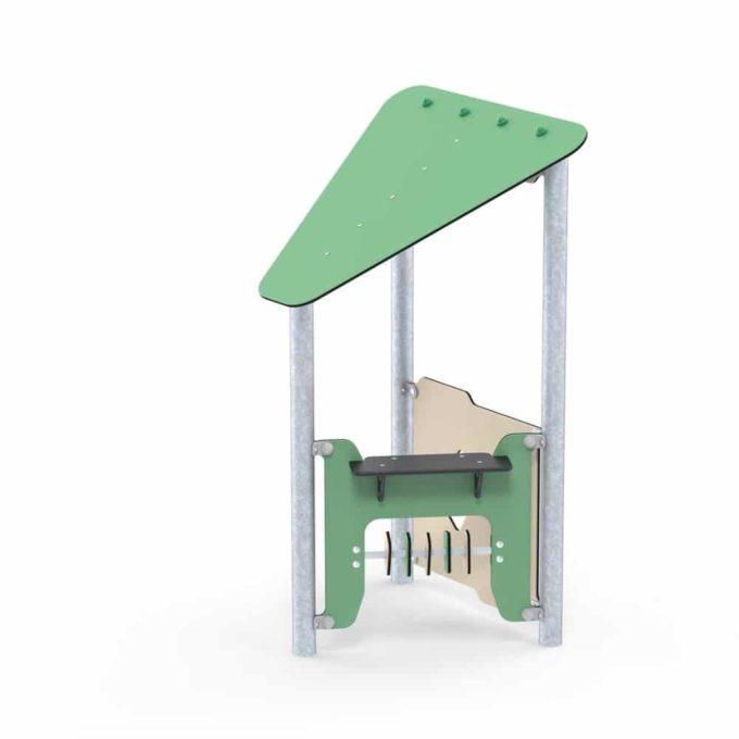Kleines Spielhaus Ben mit Spielwand - LEDON Basic - LB083 1