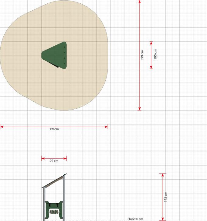 Kleines Spielhaus Ben mit Spielwand - LEDON Basic - LB083 2