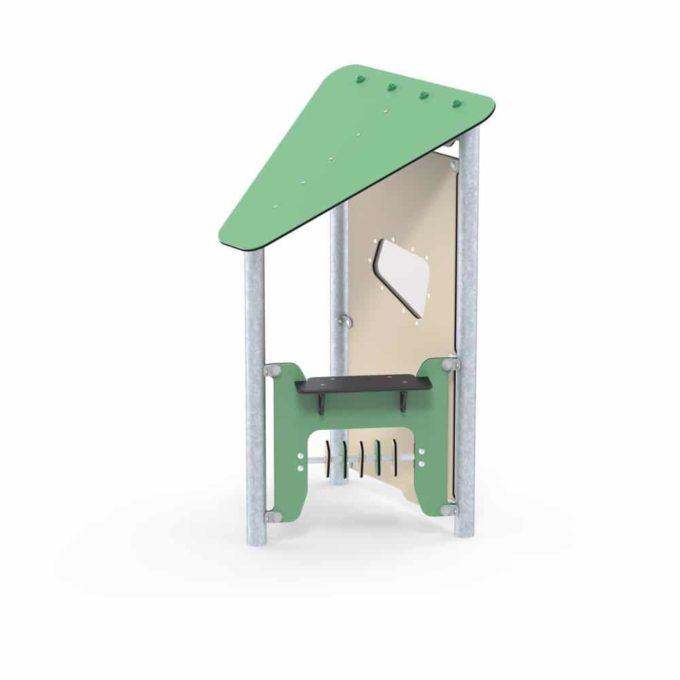 Kleines Spielhaus Beca mit Spielwand und Fenster - LEDON Basic - LB084 1