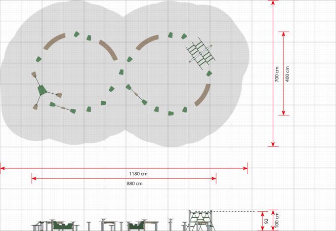 Hindernisparcours in verschiedenen Formen - LEDON Basic 11