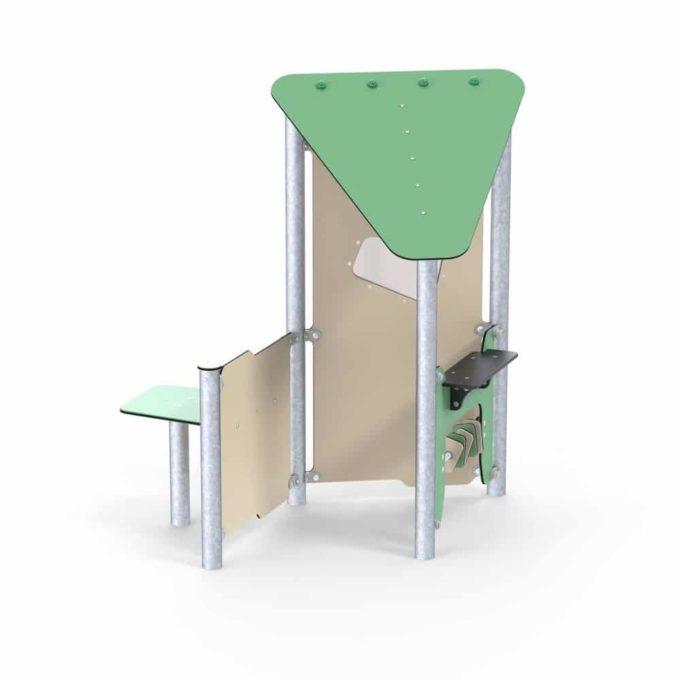 Kleines Spielhaus Bibi mit Spielwand und Tisch - LEDON Basic - LB086 1