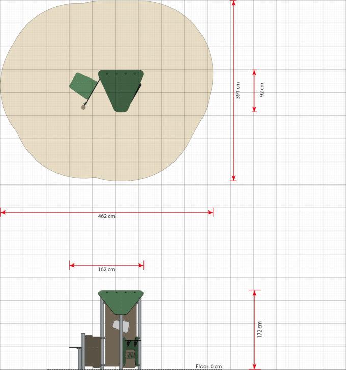 Kleines Spielhaus Bibi mit Spielwand und Tisch - LEDON Basic - LB086 15