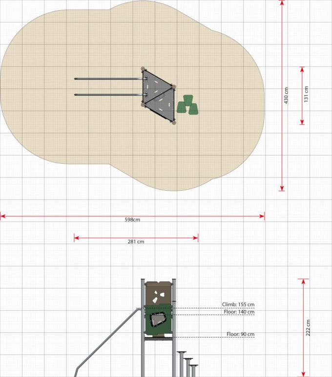 Spielturm Bertil - LEDON Basic - LB130 9