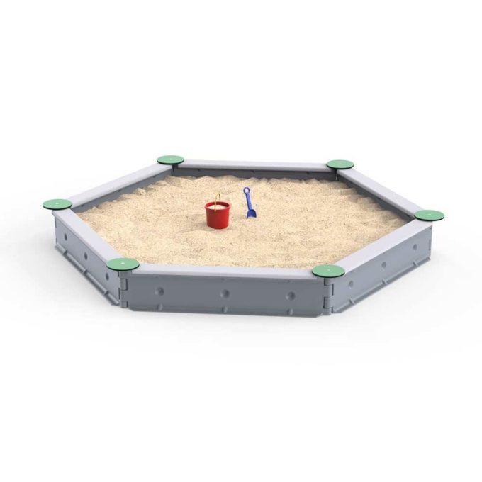 LEDON Sandkasten sechseckig mit 6 Seiten - verschiedene Ausführungen 15