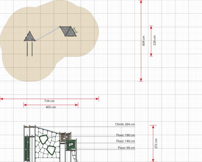 Kletter-Spielanlage Billie - LEDON Basic - LB270 10
