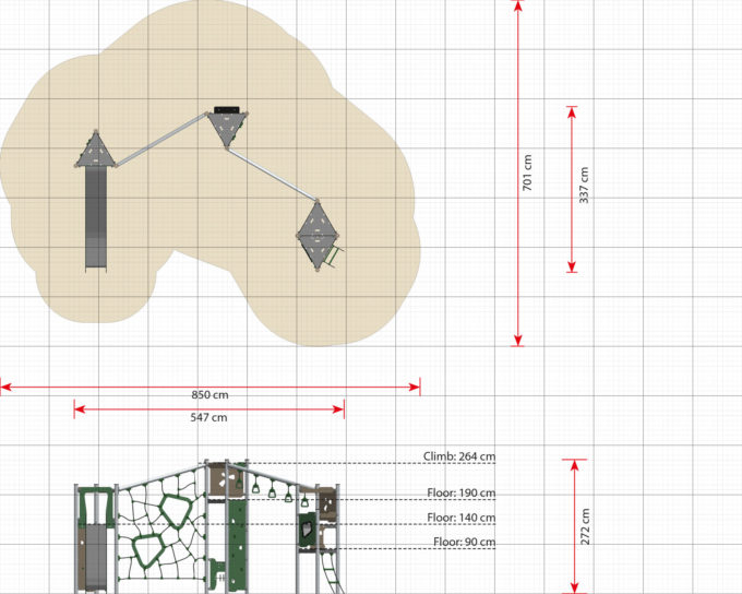 Große Kletter-Spielanlage Boris - LEDON Basic - LB350 10
