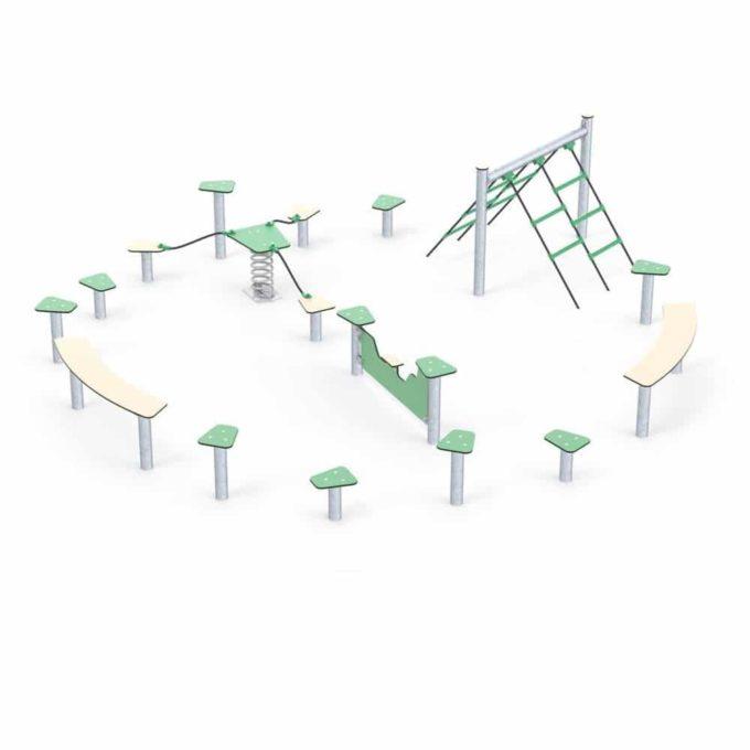 Hindernisparcours in verschiedenen Formen - LEDON Basic 3