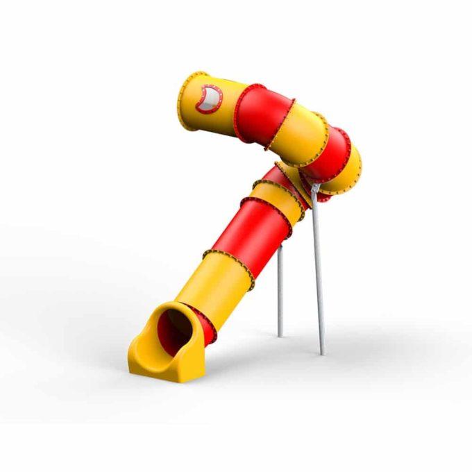 LEDON Röhrenrutsche gelb/rot - Starthöhe: 320 cm 1