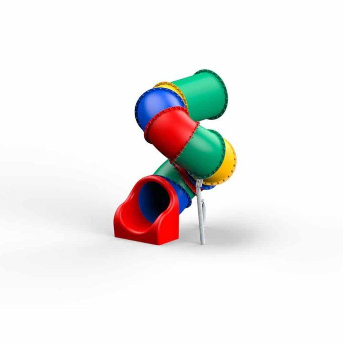 LEDON Röhrenrutsche bunt - Starthöhe: 175 cm 1