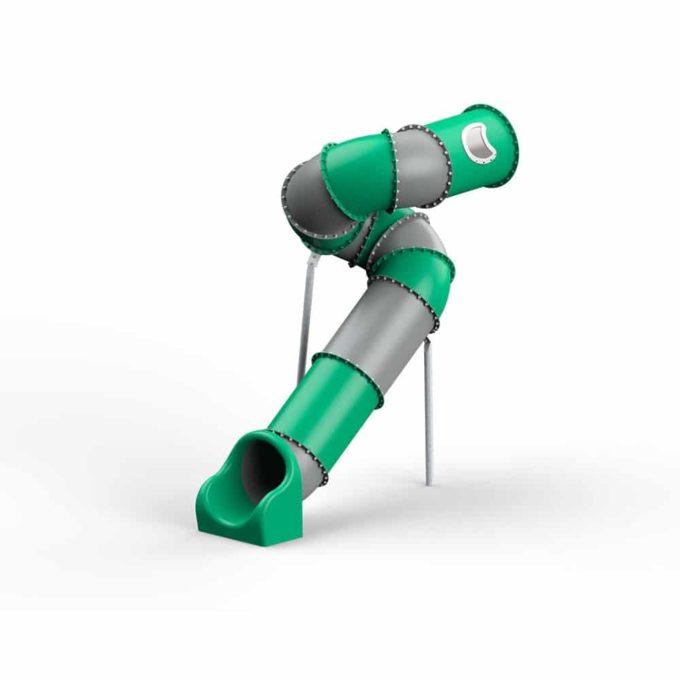 LEDON Röhrenrutsche grün/grau - Starthöhe: 305 cm 1